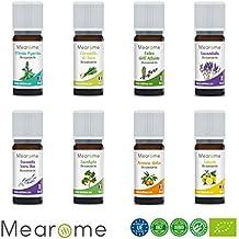 MEARÔME - Cofanetto Plénitude 8 Oli Essenziali Biologici 10 ml - Totalmente naturali, chemiotipizzati e di certificazione OEBBD
