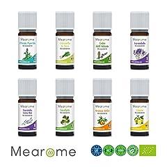 Idea Regalo - MEARÔME - Cofanetto Plénitude 8 Oli Essenziali Biologici 10 ml - Totalmente naturali, chemiotipizzati e di certificazione OEBBD