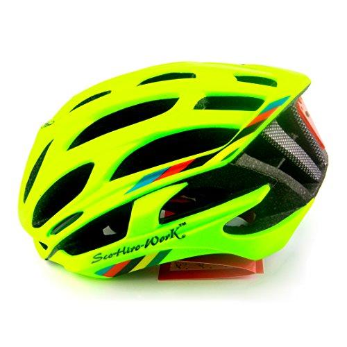 Queshark casco de ciclismo de carretera en la montaña en el molde de casco de bicicleta Ultraligero casco de bicicleta con luces de advertencia LED