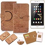 K-S-Trade Schutz Hülle für Nubia N2 Handyhülle Kork Handy Tasche Korkhülle Schutzhülle Handytasche Wallet Case Walletcase Flip Cover Smartphone Handyhülle