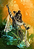 Canvas Painting Showing Shiva Tandava Religious Art Paintings in Large Size Unframed Rolled Canvas Art Print For Home Living Room & Office Decoration By FRIENDS OFFICE AUTOMATION (Size : 08 x 12 Inch)