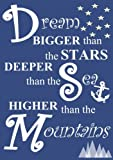 Telecharger Livres Dream Bigger Than The Stars Deeper Than The Sea Higher Than The Mountains A5 Academic Planner With Motivational and Inspirational Quotes 2017 2018 with U S Holidays for Teachers and Students (PDF,EPUB,MOBI) gratuits en Francaise