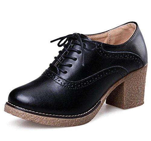 LDMB Damen runde Zehe Dicke heftige Kreuzriemen Martin Stiefel einzelne Schuhe Black