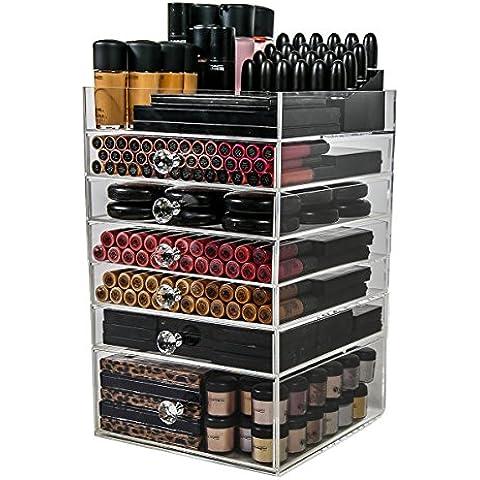 Cubo Organizador de Acrílico Para Maquillaje por N2 Makeup Co, Enormes Cajones de Almacenamiento Para Tocadores (6 Drawer)