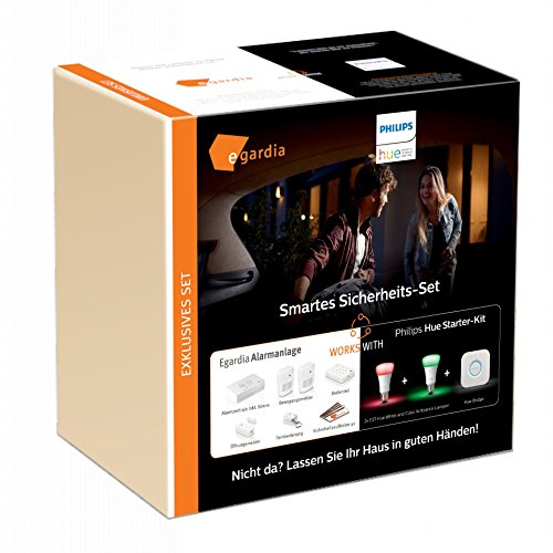 Egardia & Philips Hue Smartes Sicherheits-Set: Alarmanlage + Hue Starter-Kit EGHUE-03