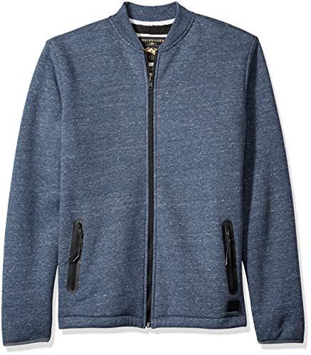 Quiksilver Herren KUROW Sherpa Bomber Sweatshirt, Blue Nights Heather, Groß -