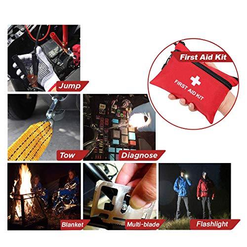 51HW3WBxHuL - Sailnovo Kits de Emergencia del Coche Portátil Botiquin Coche de Asistencia en Carretera Multifuncional 97 en 1