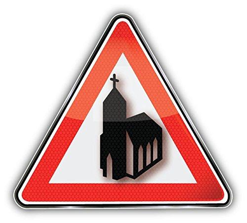 church-building-sign-art-decor-autocollant-12-x-12-cm