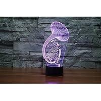 3D lampada creativa di notte la luce