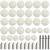 ZFE 64estuco Fieltro Disco pulidor y rueda, Point & Mandril Kit Fur Dremel Proxxon multifunción herramientas de 3mm vástago