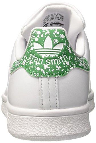 adidas Stan Smith, Baskets Mode Femme Blanc (Footwear White/Footwear White/Green)