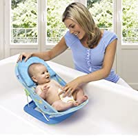 Toyboy Deluxe Baby Bather with Removable Head Support Cushion Infant Bath Aid Todler (Blue)