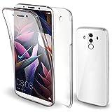 Moozy 360 Grad Hülle für Huawei Mate 10 Pro - Vorne und Hinten Transparent Dünne Handyhülle Case - Hart PC Zurück, Weiche TPU