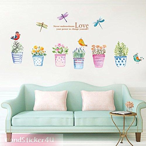 wandsticker4u-6-tlg-set-blumen-topfe-im-wasserfarben-look-effektbild-120x85-cm-blumentopf-vase-schme