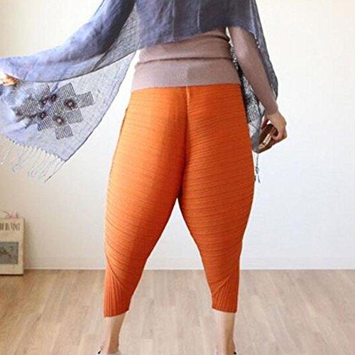 Femme fried chicken pants harlan pantalons taille haute jogging pantalons lâche drôle pantalon décontracté élastique monochrome pantalons de sport 3 couleurs S-5XL Juleya Orange