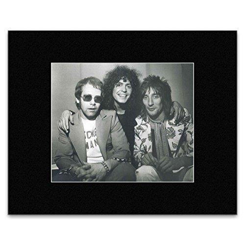 Stick It On Your Wall Elton John Marc Bolan Rod Stewart-Posing zusammen Mini Poster-40,5x 30,5cm