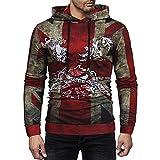HUIHUI Herren Bekleidung Pullover v Ausschnitt Baumwolle 2in1 Kapuzenpulloverslim fit Sweatshirt (Multicolor,M)