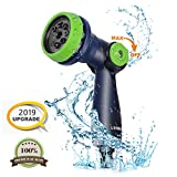 UERMEI Garden Hose Spray Gun, 8-Pattern Multi Spray Watering Gun High Pressure Hose