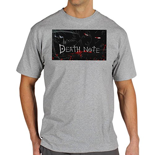 Death-Note-Covered-In-Blood-Background.jpg Herren T-Shirt Grau