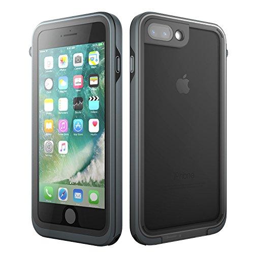 Besten Am Eis-brust (ZUSLAB iPhone 7 Plus Hülle, Wasserdichte Ganzkörper Outdoor Staubdicht Schneedicht Stoßfest Schutzhülle Hülle Tasche mit Displayschutz für Apple iPhone 7 Plus [Waterproof][Grau])