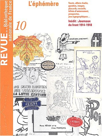 Revue de la BNF10. L'Ephémère