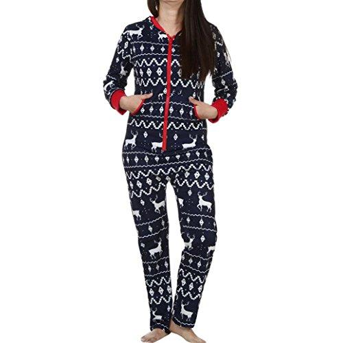 Damen Jumpsuit Pyjamas FORH Frauen Langarm Weihnachten Elch Bedruckt Overall Nachthemden Winter warm lang hoodie Schlafanzüge Hosenanzug Jumpsuit Anzug Sleepwear Overall (XXL, (Erwachsene Batman Hoodie)