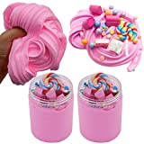 SWZY Cotton Candy Slime Rosa Fluffy Cloud Slime Suministros Stress Relief Toy...