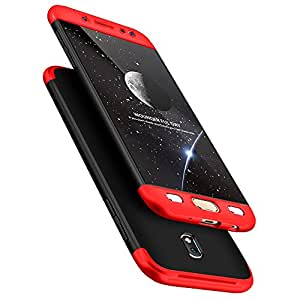 Kapa Double Dip Full Protection Back Case Cover for Samsung Galaxy J7 Pro - Black/Red