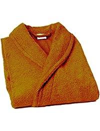 Home Basic - Albornoz con cuello tipo smoking, talla L, color butano