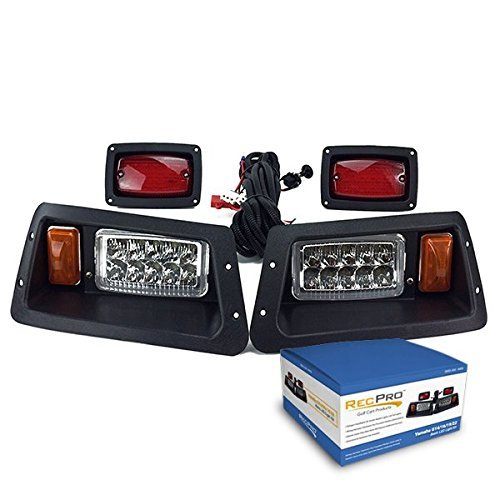19 22 LED HEAD LIGHTS & LED TAIL LIGHTS GOLF CART LIGHT KIT by RecPro Golf Cart Products ()