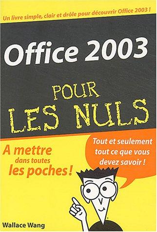 Office 2003 pour les nuls