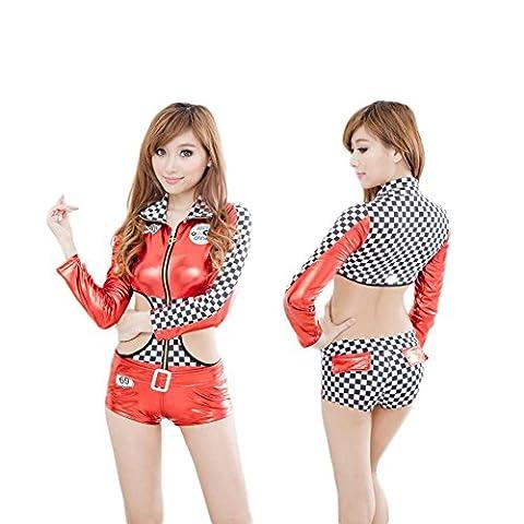SEX PLAY Costumes Lingerie Sexy / Modèles De Voitures Sexy Combinaisons De Course / Club Uniformes Tentation Cuir Verni D