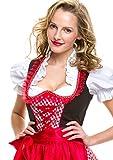 rotes Lifos Dirndl mit Bluse und Schürze - 2