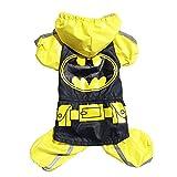 woolala déguisement Batman pour animaux Toilettage pour Chien Imperméable pour chien, jours de pluie, veste imperméable pour homme imperméable Poncho pour chien de petite à grande, Glisten Bar Pull à capuche pour chien/chat Manteau imperméable Vêtements–XL