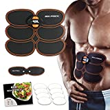 Gymform Mediashop Six Pack Bauchmuskel-Training Elektro Muskeltraining Stimulation EMS | inkl. 8 Klebepads, Ernährungsratgeber, Six Pack Mini gratis | Das Original aus Dem TV