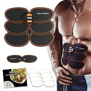 Gymform Sixpack Set – Bauch-Muskel-Trainer und Brust-Trainer mit Klebepads | Elektro-Muskel-Training| Stimulation| EMS-Technologie | 10 Intensitätsstufen | Das Original aus dem TV von Mediashop