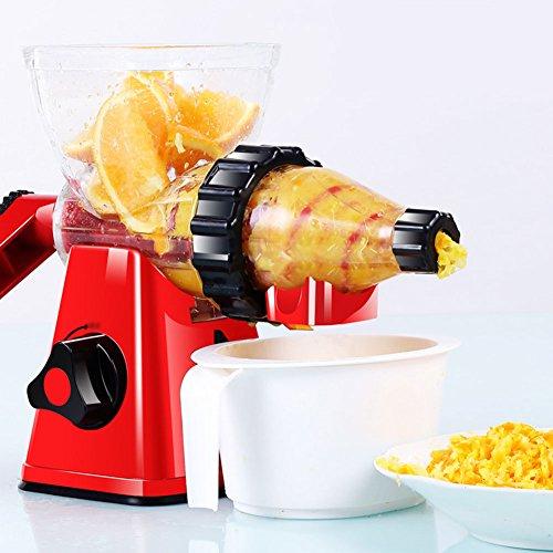 Klassische traditionelle Entsafter Gesunde Entsafter Obst und Gemüse Hand-Manuelle Weizengras Entsafter Küche oder Esszimmer Hand Crank Reamer Kinder Saft Maschine rot