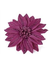 Pink Glitter Design Flower Hair Beak Clip Slide Fascinator