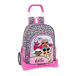 51HWEKgILwL. SS324  - LOL Mochila con Carro Ruedas Evolution, Trolley.