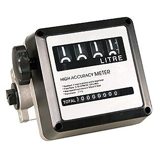 miparts 89yoilp10111Betriebsstundenzähler Liter Diesel 4Ziffern in Aluminium