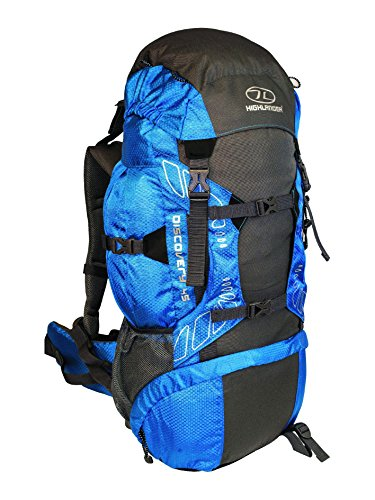 Highlander Discovery - Mochila de senderismo, color azul, 45 L