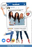 MundoPrint Marco Photocall Facebook Personalizado. 90x120cm. Cartón 4mm.