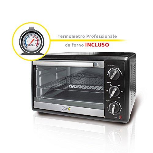 SPICE Forno Fornetto Elettrico Ventilato 23 LITRI Habanero con Termometro Professionale