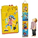 Meßlatte Holz - Piraten zum Klappen / Falten - Messlatte Kinderzimmer Holzmeßlatte für Kinder Kind Pirat Seefahrer Holzmeßlatte Drachen