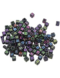 1 Pack Fashion Mixed Multicolor Letters Mini Beads DIY Ornaments Accessories Type 8/Around 300 Piece
