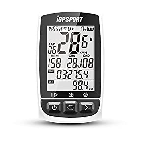 51HWFl3RURL. SS300  - IGPSPORT Ciclocomputer GPS con ANT+ Funzione iGS50E Ciclocomputer bici senza fili Wireless-Bianco