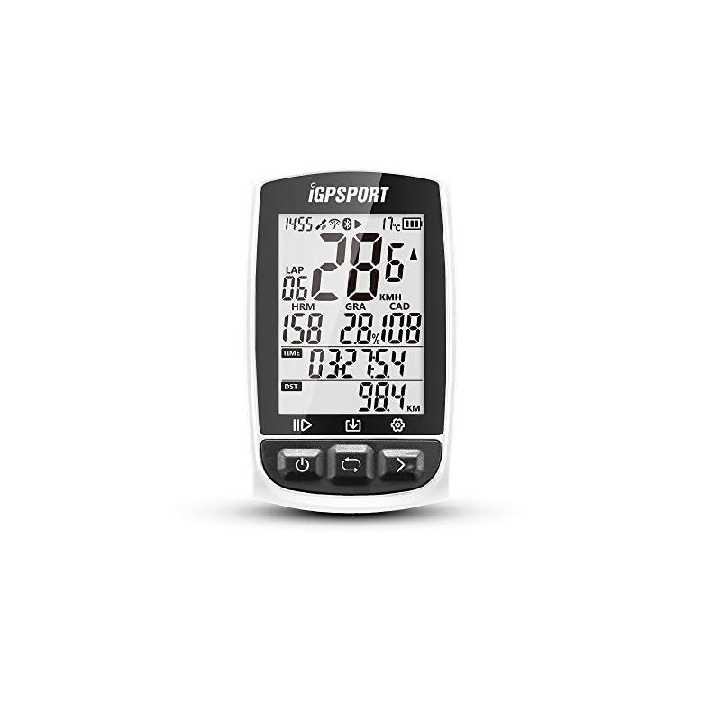 IGPSPORT GPS Bike Computer iGS50E Wireless Cycle Computer Waterproof Compatible Speed Cadence Heart rate Sensor (Not…
