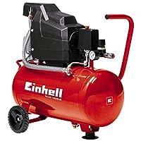 Einhell Compresseur TC-AC 190/24/8 (1100 W, Puissance d'aspiration 160 l/mn, Pression maximale 8 bar, Débit d'air 0, 4, 7 bar : 98 l/m, 76 l/m, 60 l/m, Capacité de la cuve : 24 L)pas cher