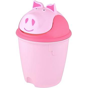 Poubelle animal salle de bain et chambre enfant cochon - Poubelle chambre bebe ...