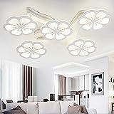 REEP LED Deckenleuchten modern 100W Pflaumenblüte gestalten Deckenlampe - 3-farbiges Dimmen Wohnzimmer Schlafzimmer 85 cm